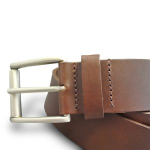 Real Leather Belt (Medium Brown) 2